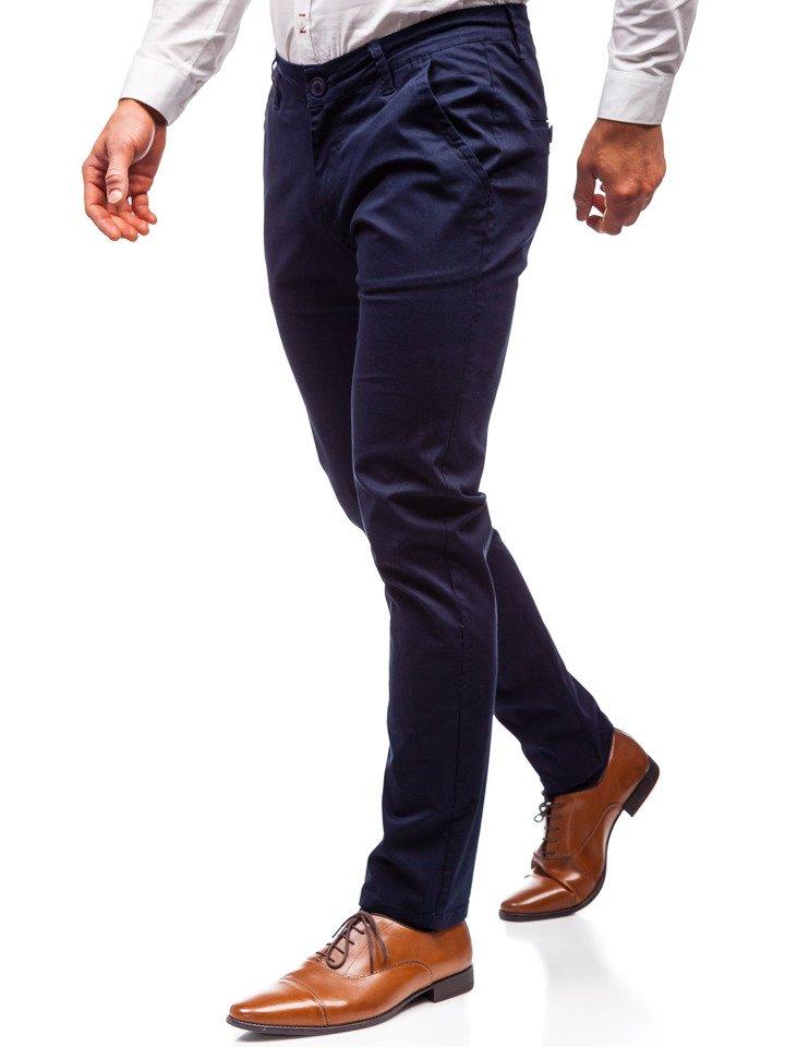 Pantaloni chino bărbați bleumarin Bolf 2901