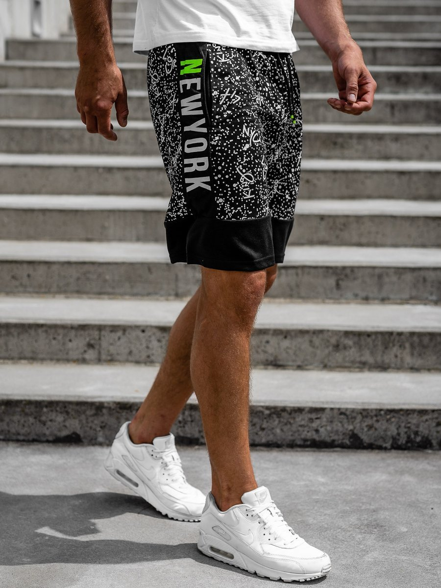 Pantaloni scurți de trening bărbați negri Bolf KS2508 imagine