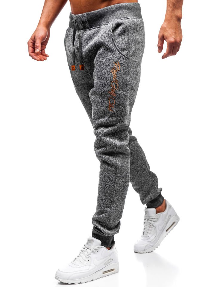 Pantaloni pentru bărbați sportivi jogger grafit Bolf Q3507