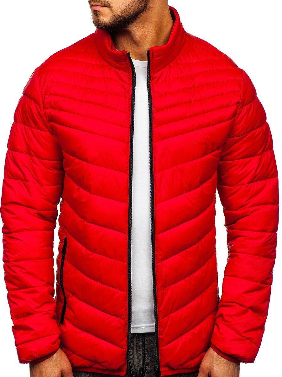 Geacă de iarnă roșie matlasată Bolf 1137 imagine