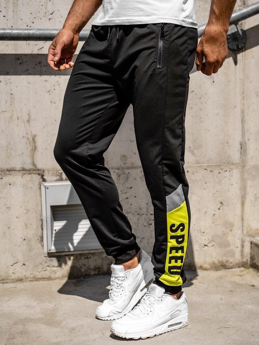 Pantaloni de trening joggers negri Bolf HY717 imagine