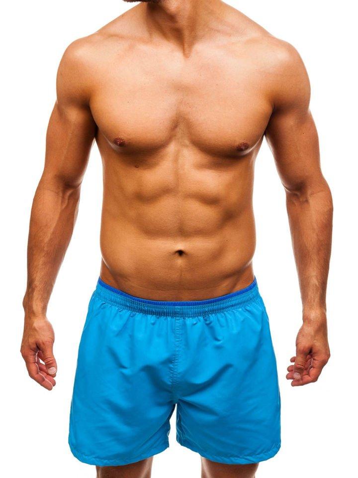 Pantaloni scurți de înot pentru bărbat albaștri-deschis Bolf Y768 imagine