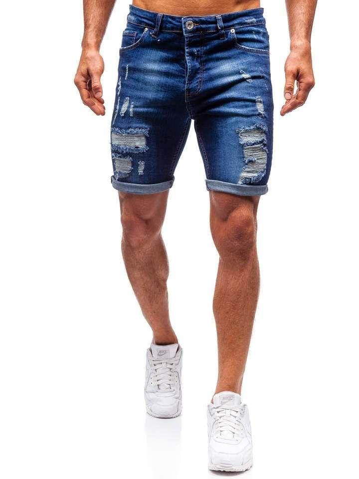 Pantaloni scurți denim bărbați bleumarin Bolf 1061