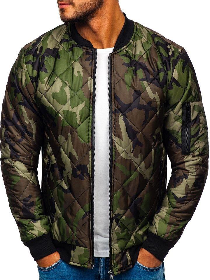 Geacă bomber bărbați camuflaj-verde Bolf MY01