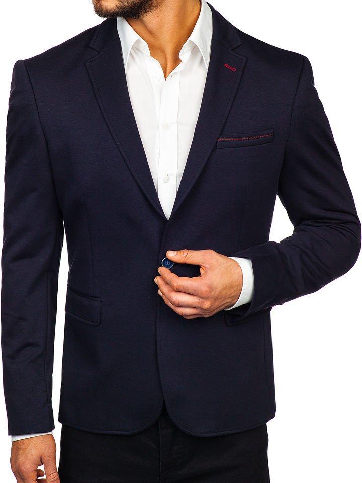 Sacou elegant bărbați bleumarin Bolf RBR406 imagine