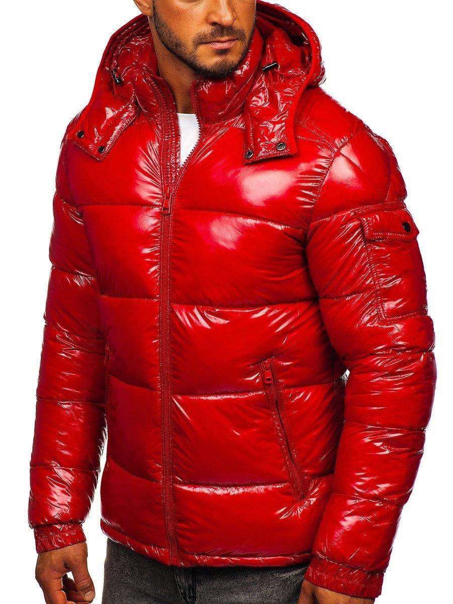 Geacă de iarnă sport matlasată roșie Bolf 974 imagine