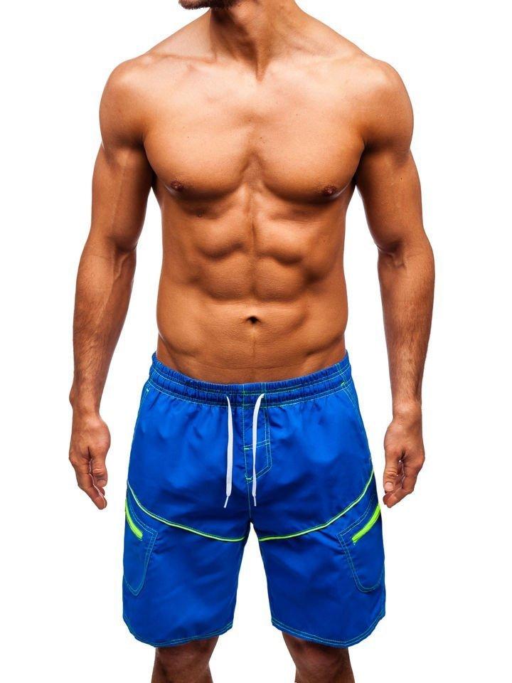 Pantaloni scurți de baie bărbați albastru Bolf 341