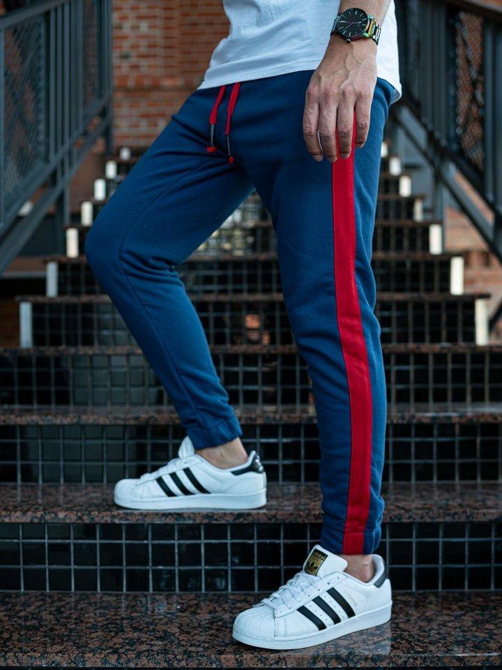 Pantaloni trening bărbați indigo Bolf 11120 imagine