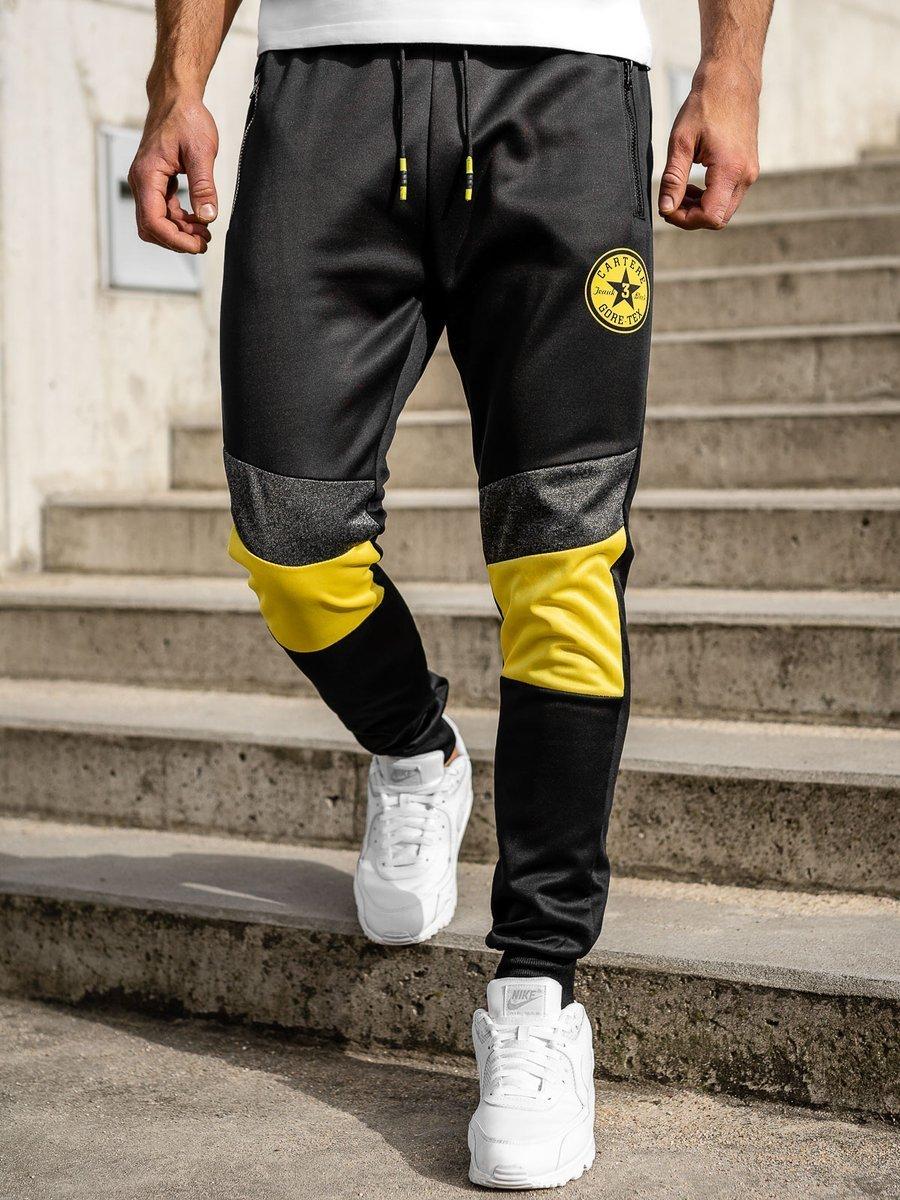 Pantaloni de trening negri Bolf K50001 imagine