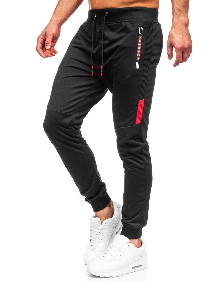Pantaloni de trening negri Bolf K10209
