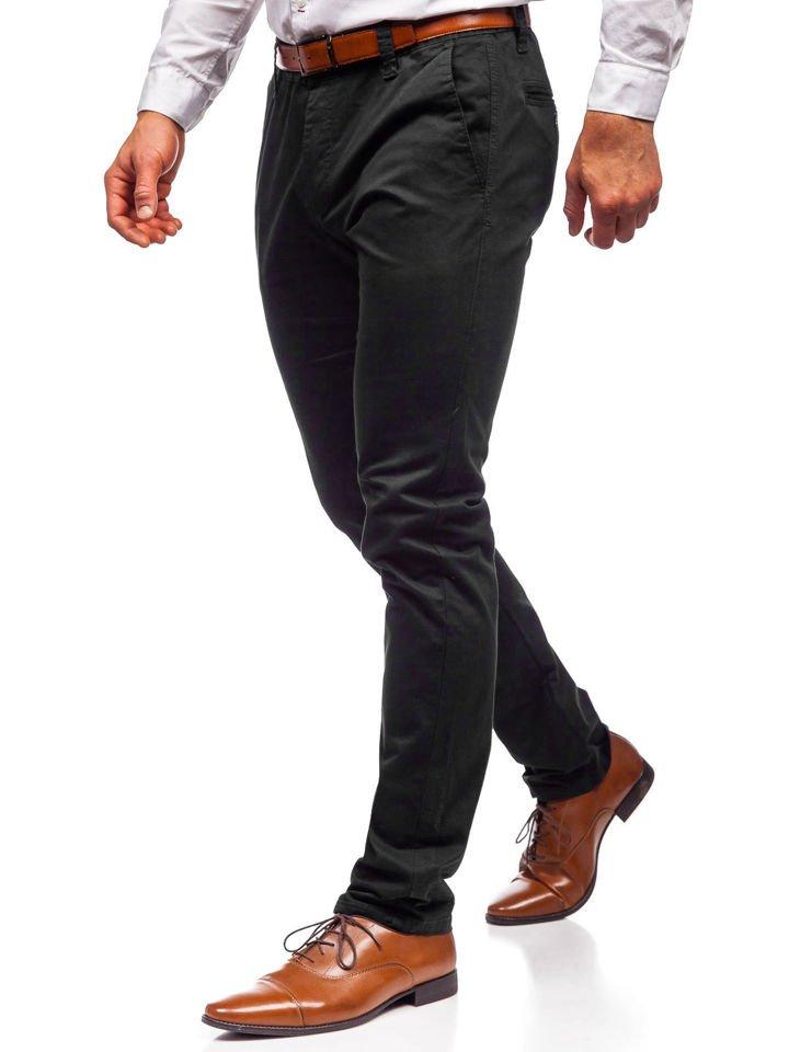 Pantaloni chino bărbați negri Bolf KA6807
