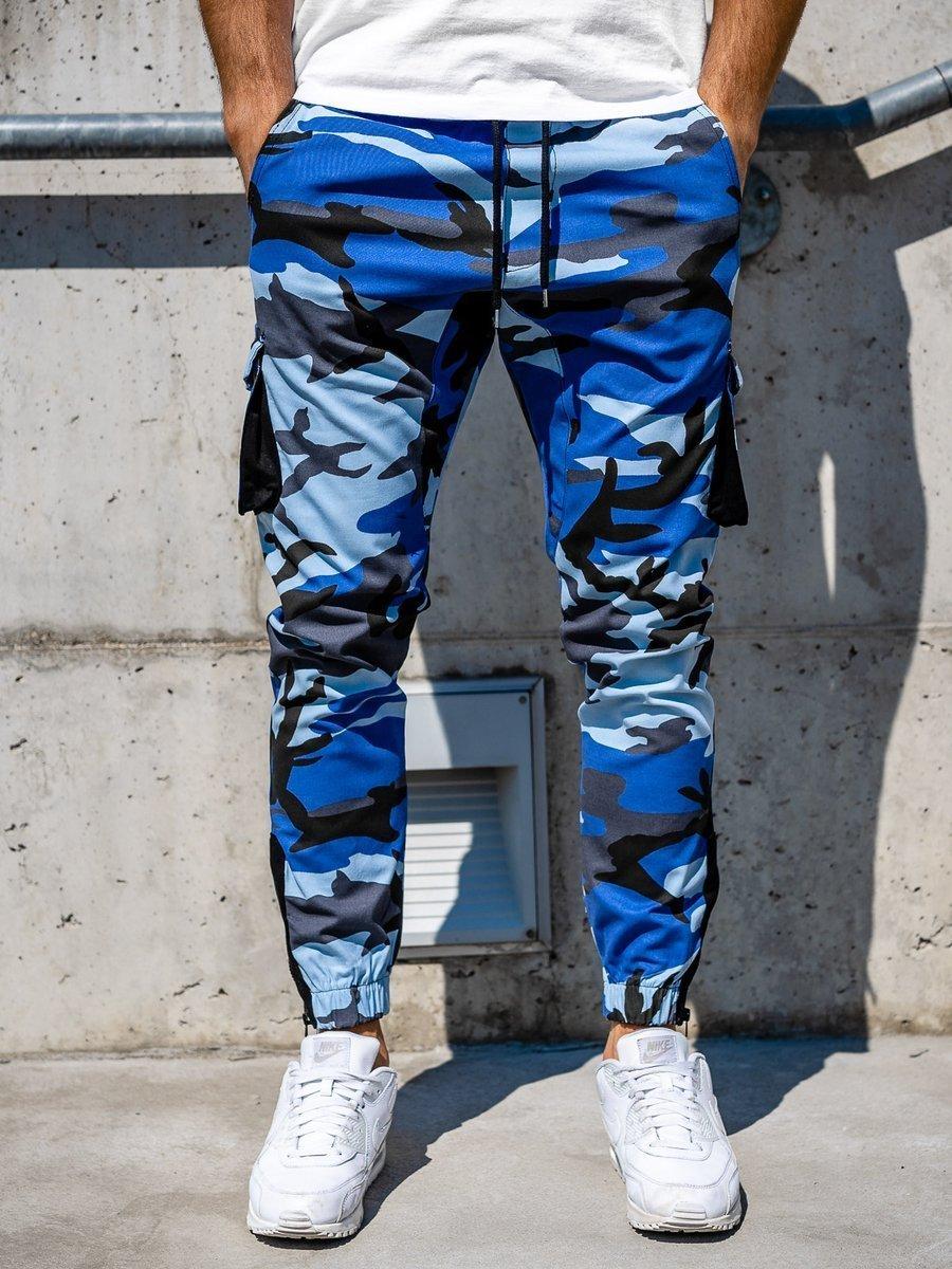 Pantaloni trening cargo albastru Bolf 0705 imagine