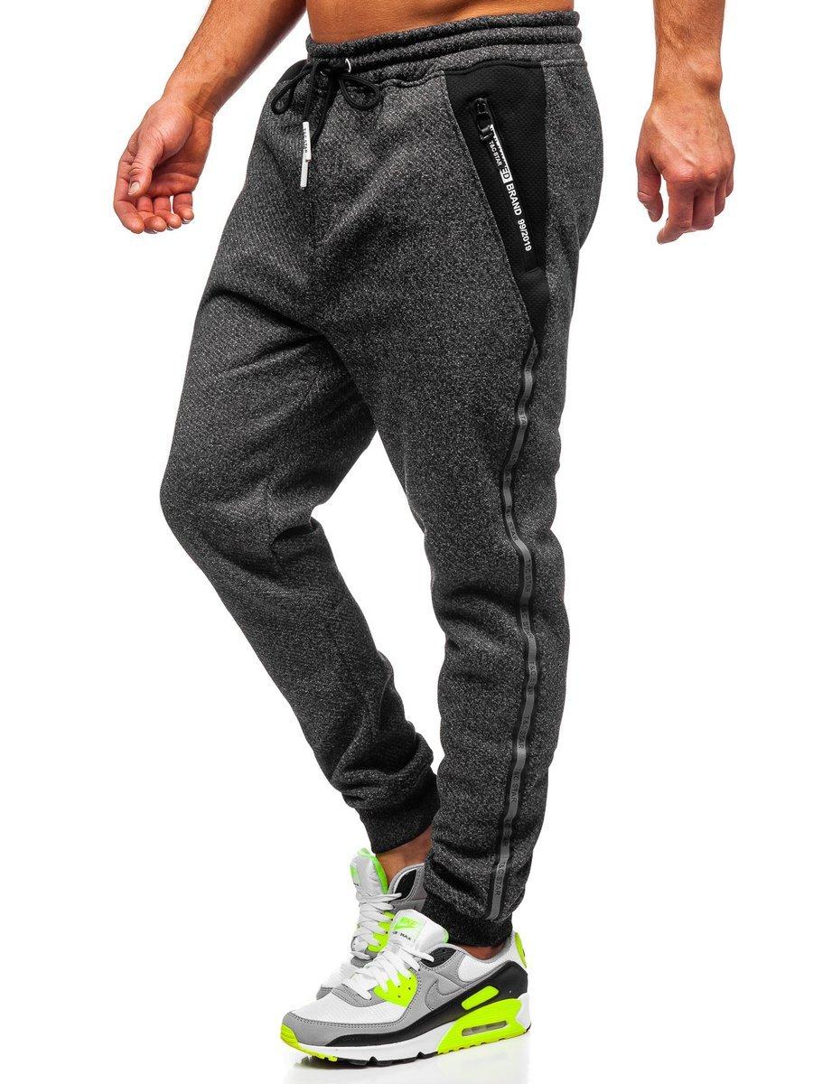 Pantaloni de trening negri Bolf TC513