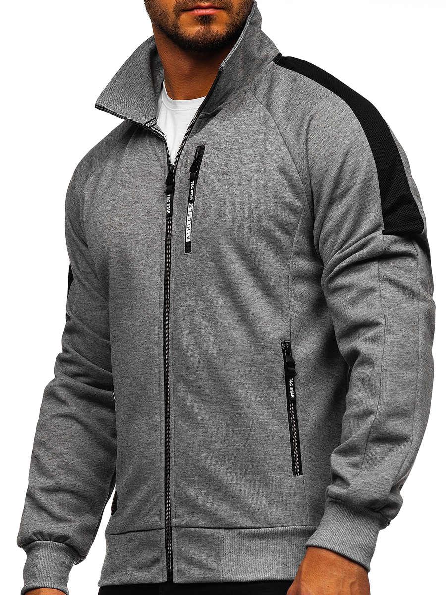 Bluză cu fermoar gri bărbați Bolf TC1050 imagine