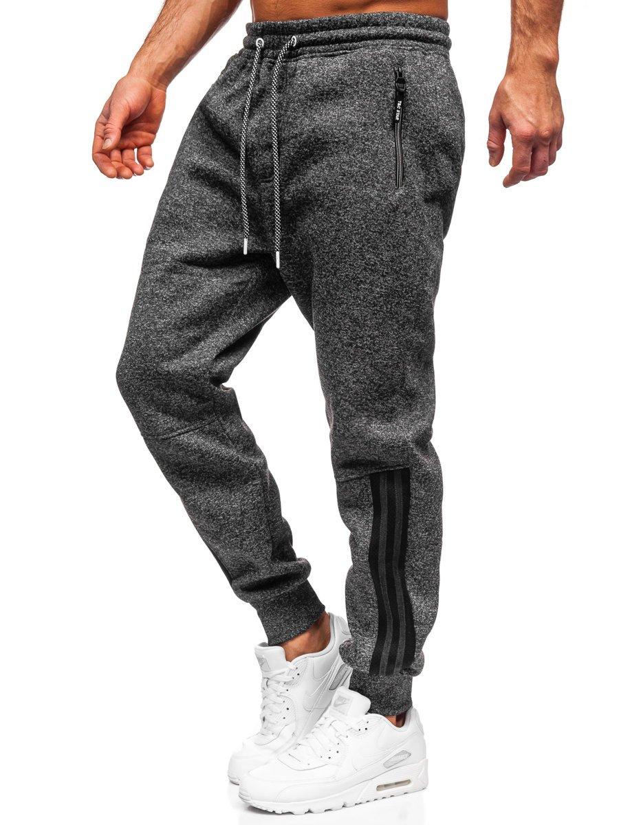 Pantaloni de trening negri Bolf TC937