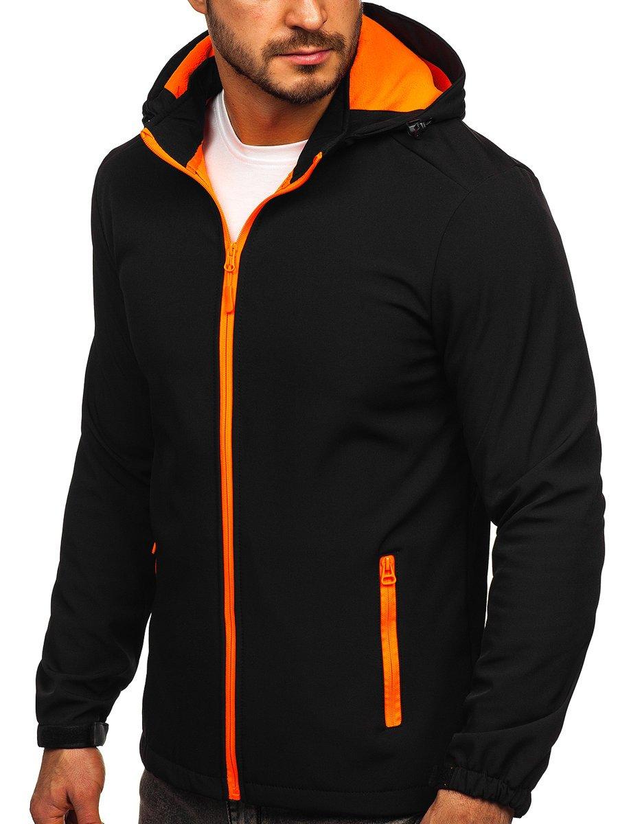 Geacă softshell negru-portocaliu Bolf HH017 imagine