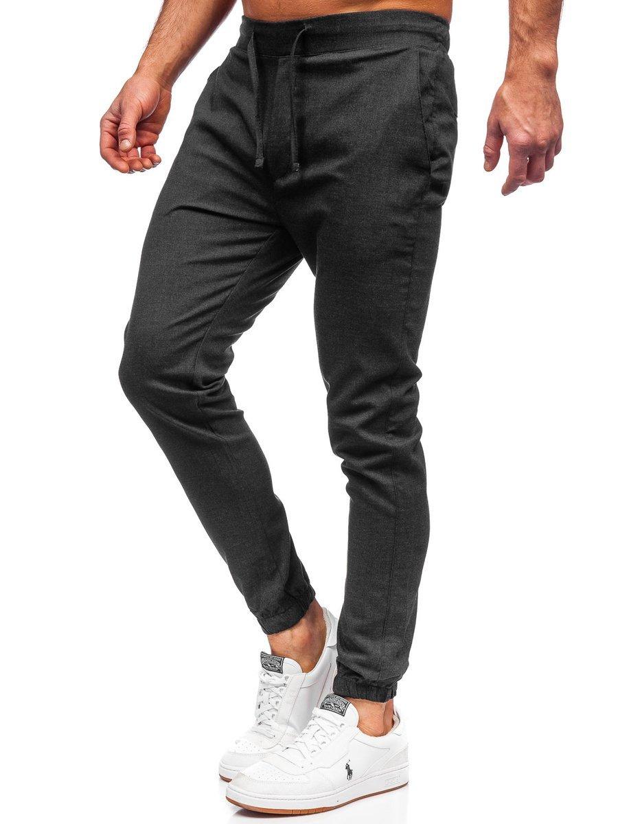 Pantaloni joggers grafit Bolf 0011 imagine