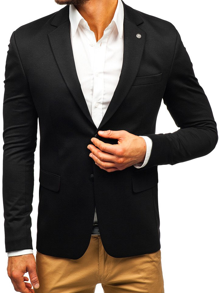 Sacou elegant bărbați negru Bolf 191060