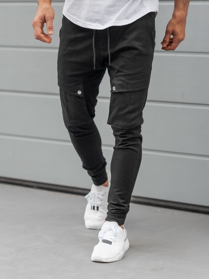 Pantaloni training cargo bărbați negru Bolf 1003