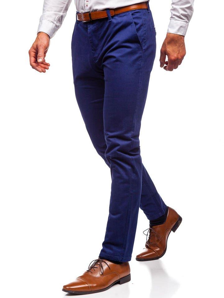 Pantaloni chino bărbați albaștri Bolf 1120 imagine