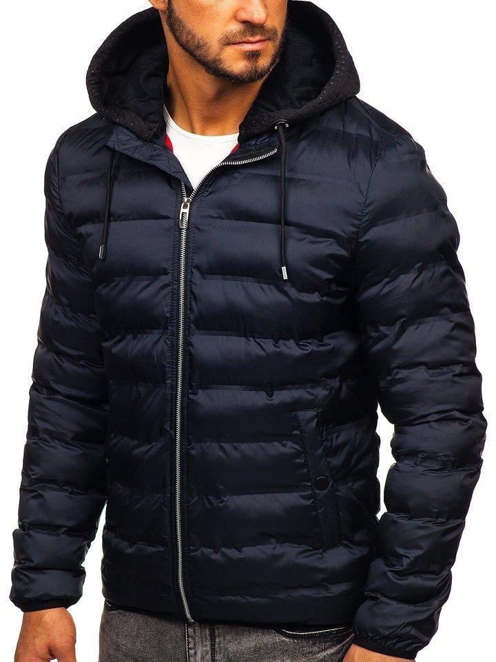 Geacă de iarnă bleumarin Bolf 5332