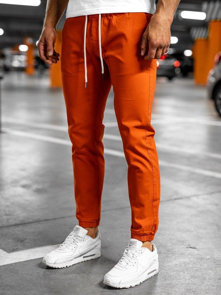 Pantaloni joggers portocaliu Bolf 1145 imagine