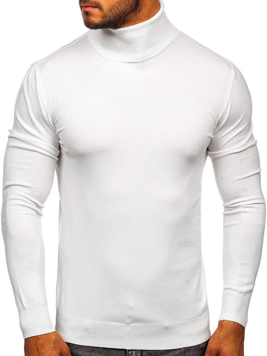 Pulover-maletă alb Bolf YY02 imagine