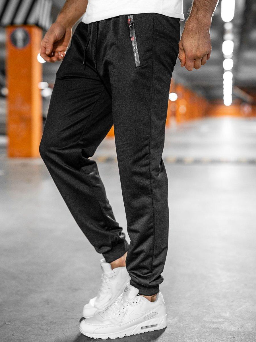 Pantaloni de trening negri Bolf JX1028 imagine