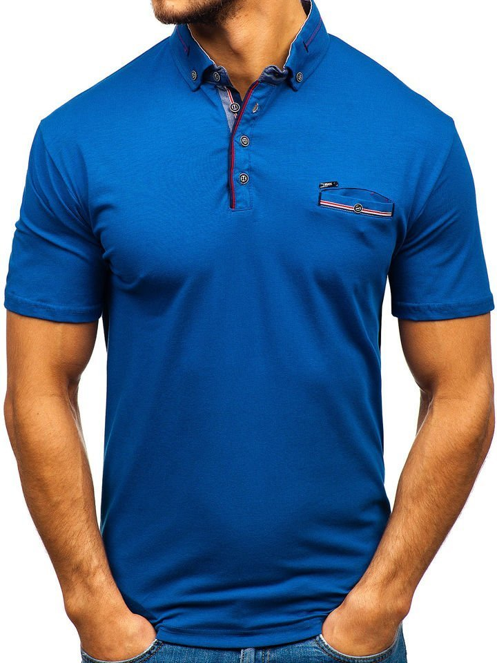 Tricou polo bărbați bleumarin Bolf 192037 imagine