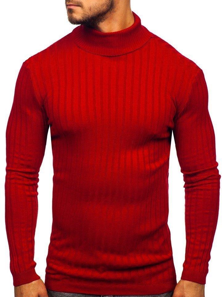 Pulover bărbați roșu Bolf 2002