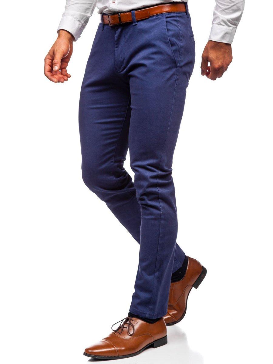 Pantaloni chinos albastru bărbati Bolf 1143 imagine