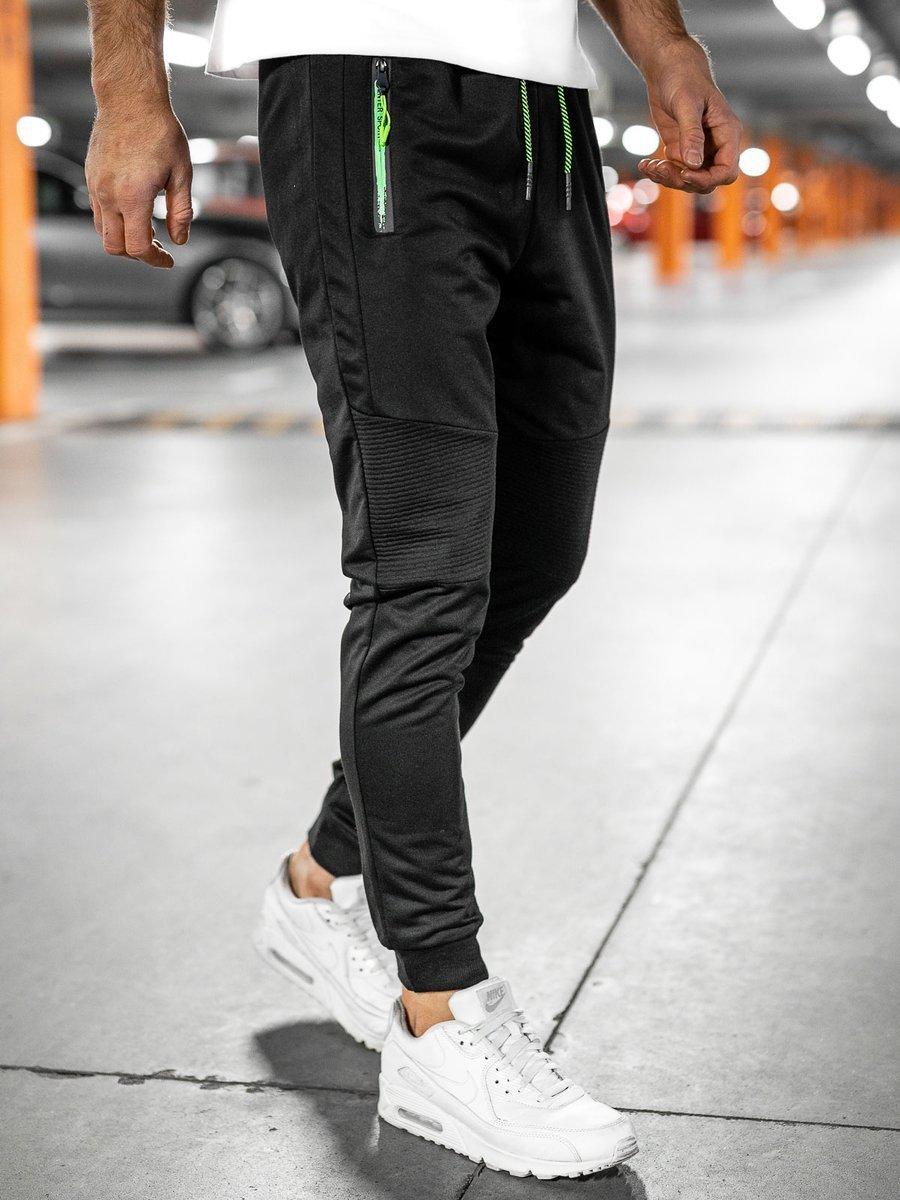 Pantaloni de trening negri Bolf YLB88008 imagine