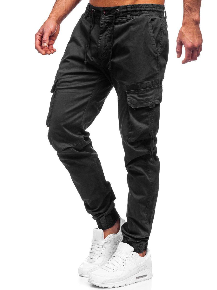 Pantaloni joggers cargo verzi Bolf 8956 imagine