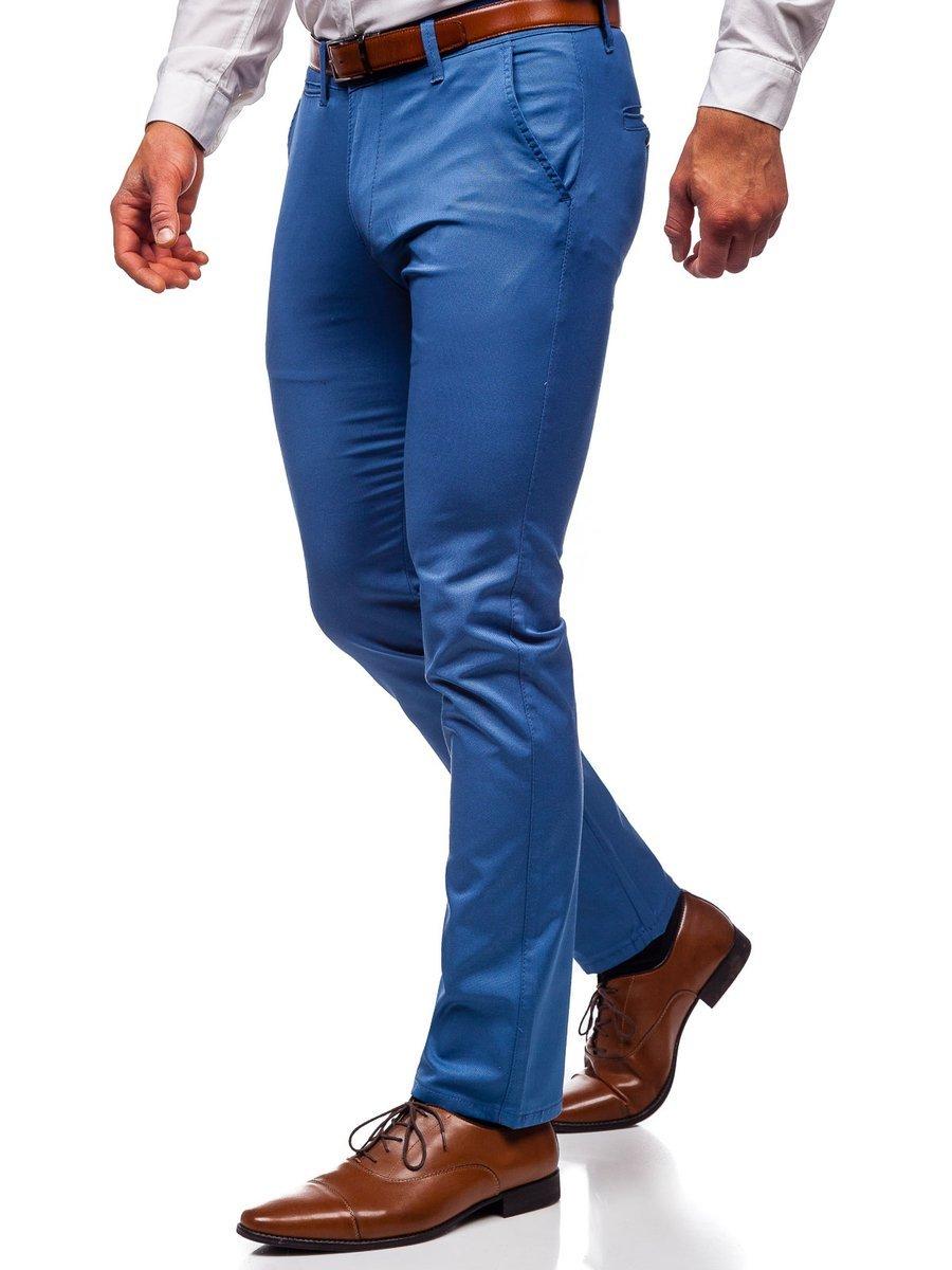Pantaloni chinos albastri bărbați Bolf KA1786P imagine