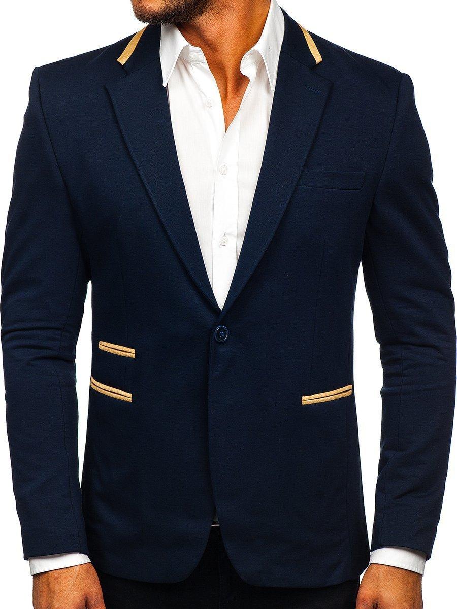 Sacou elegant bleumarin bărbați Bolf 9400