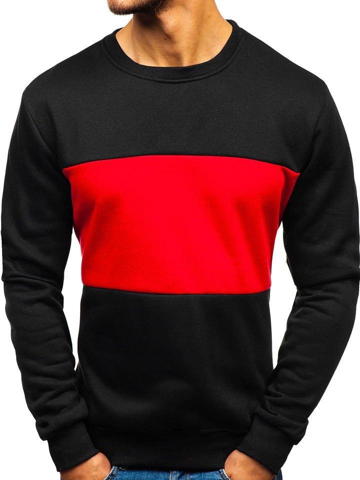 Bluză pentru bărbat fără glugă și imprimeu neagră Bolf TX23