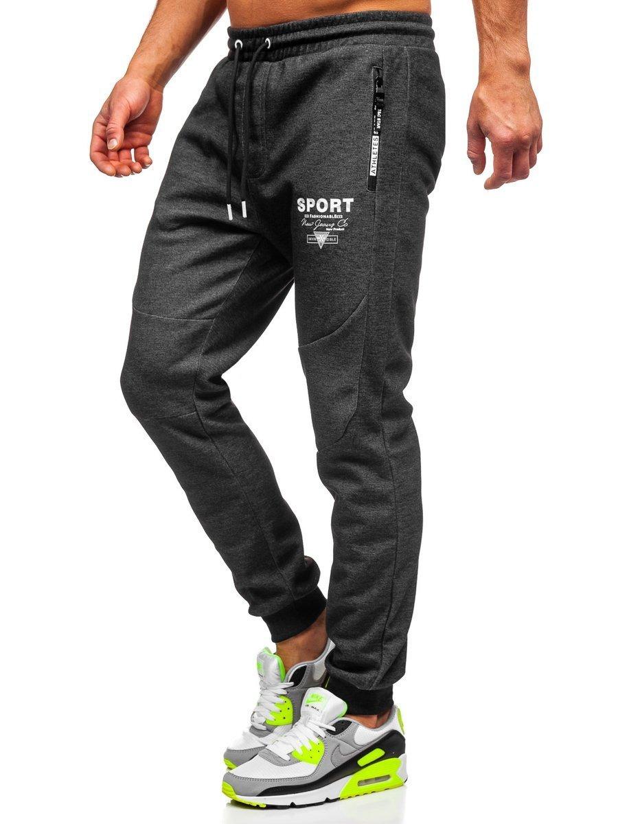 Pantaloni de trening negru-alb Bolf Q1042
