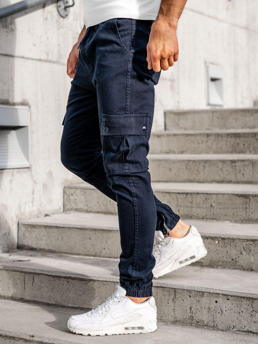 Pantaloni joggers cargo bleumarin Bolf 0858