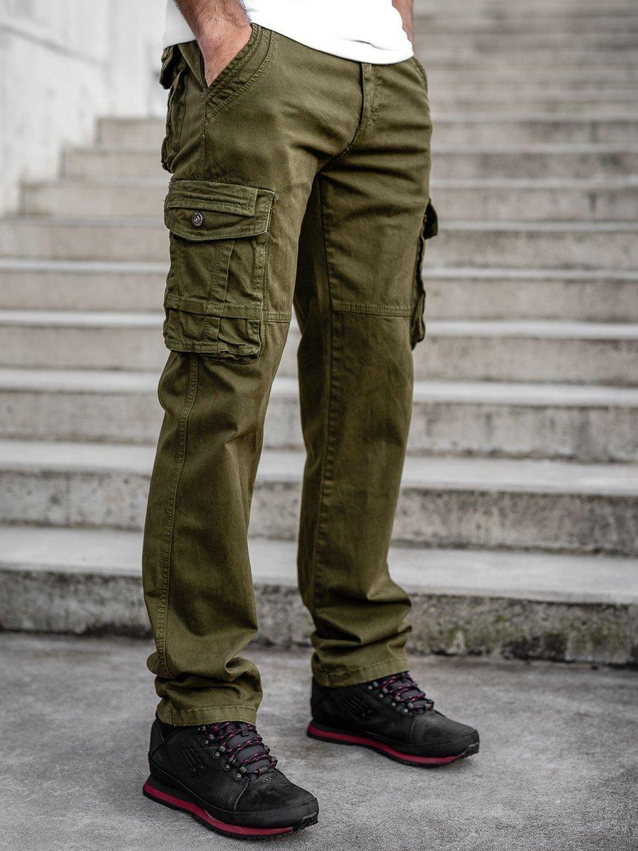 Pantaloni verzi cargo cu curea Bolf CT8903 imagine