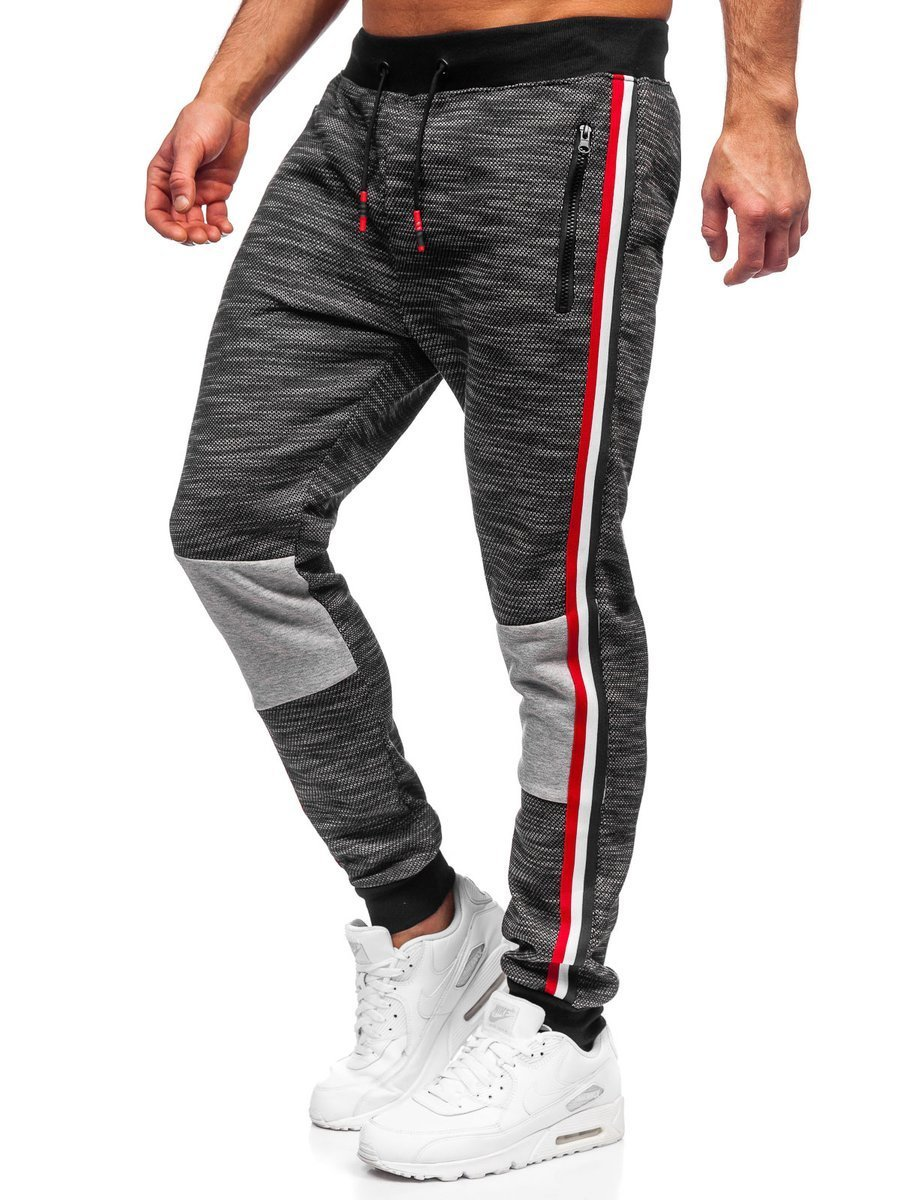 Pantaloni de trening negri Bolf K60015
