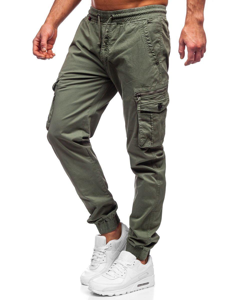 Pantaloni cargo verde-deschis Bolf CT6706S0 imagine