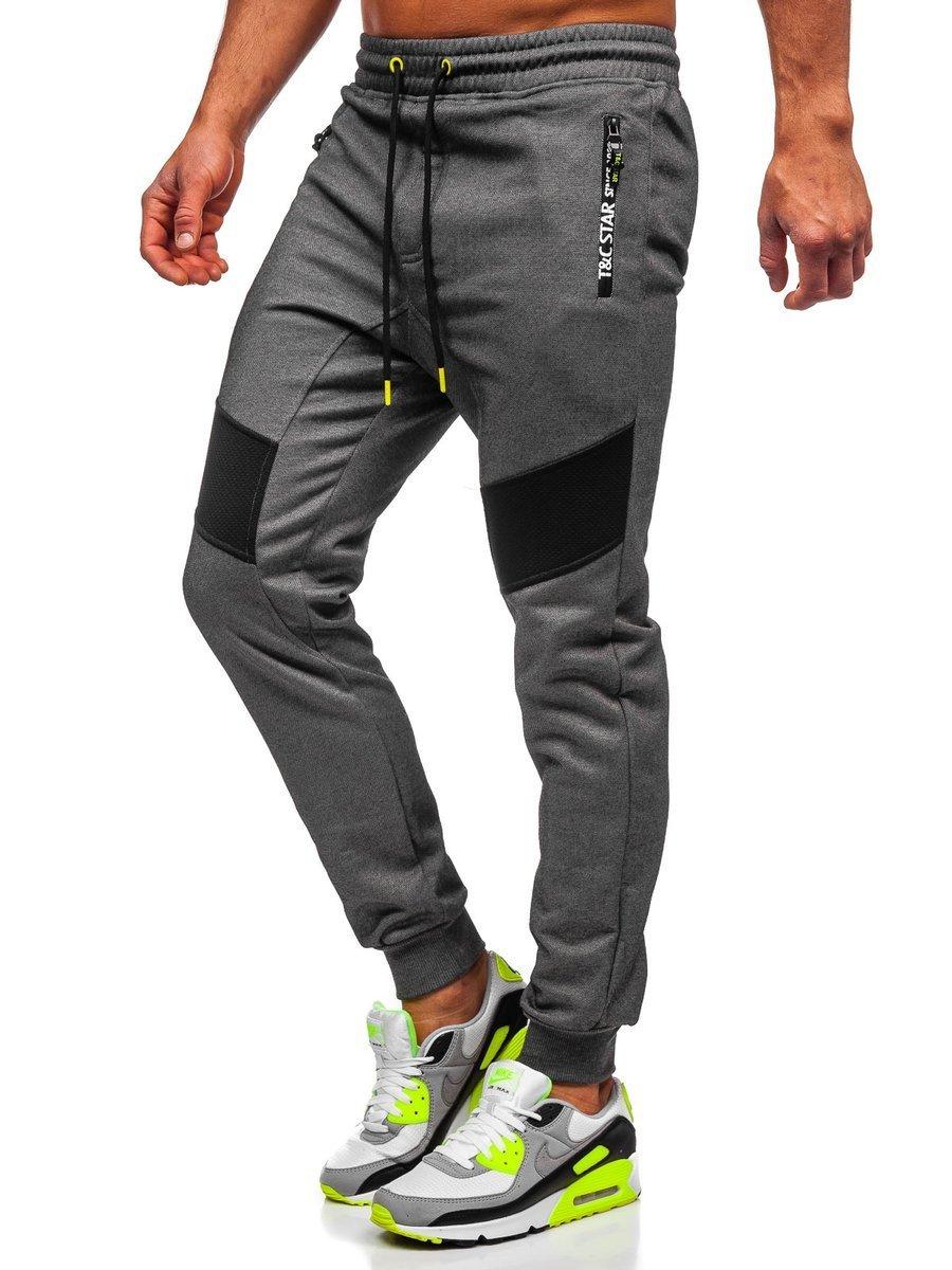 Pantaloni de trening camuflaj grafit Bolf TC878