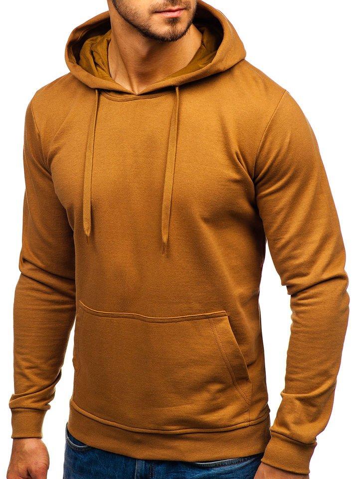 Bluza cu glugă pentru bărbați maro Bolf 5361