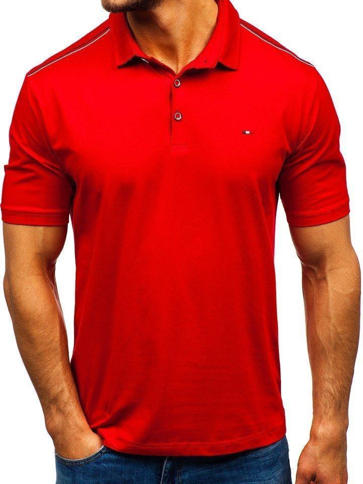 Tricou polo bărbați roșu Bolf 6797 imagine