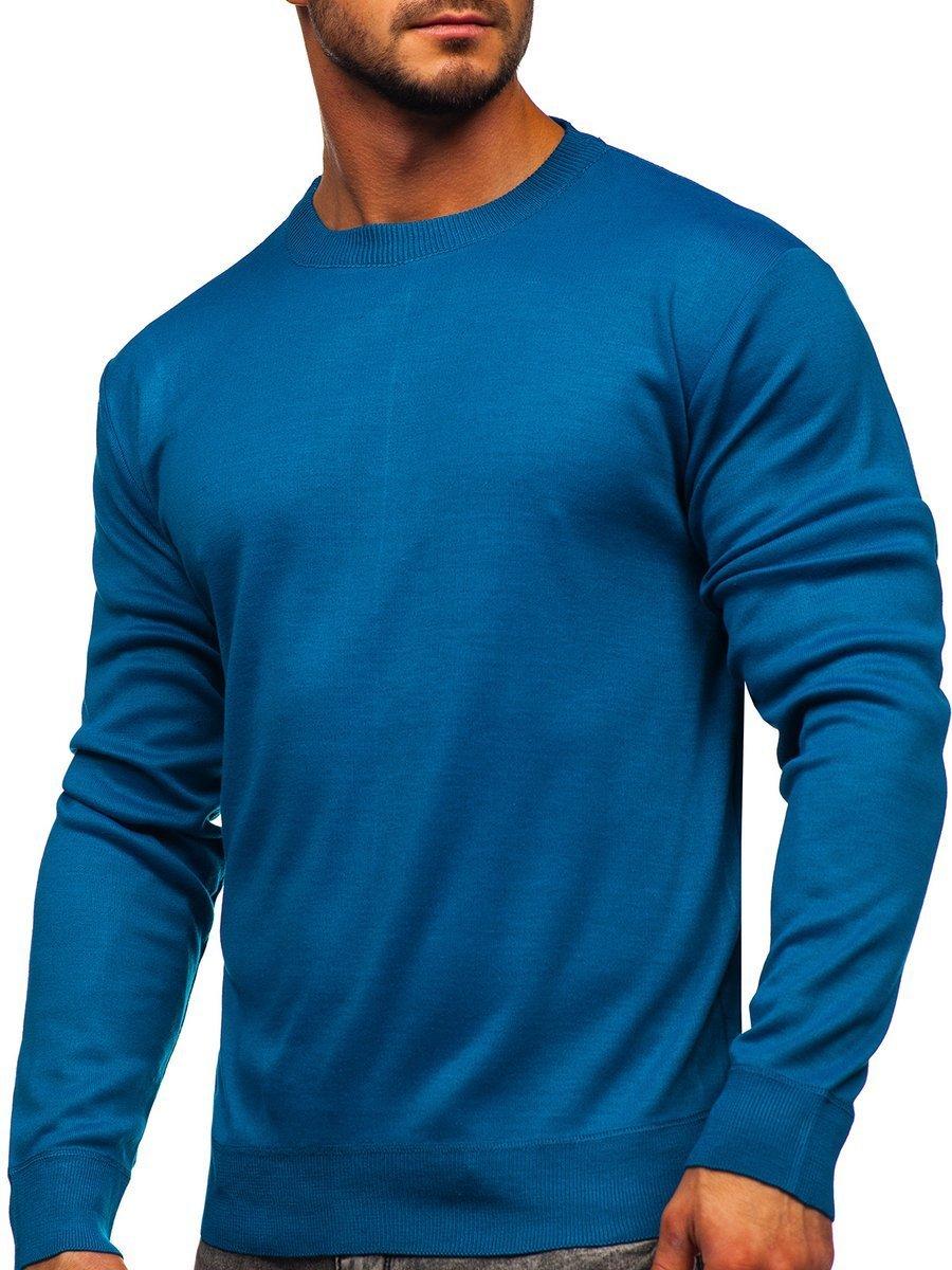 Pulover albastru-marin bărbați Bolf GFC01 imagine