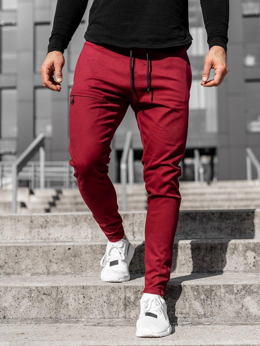 Pantaloni joggers bărbați bordo Bolf 11119