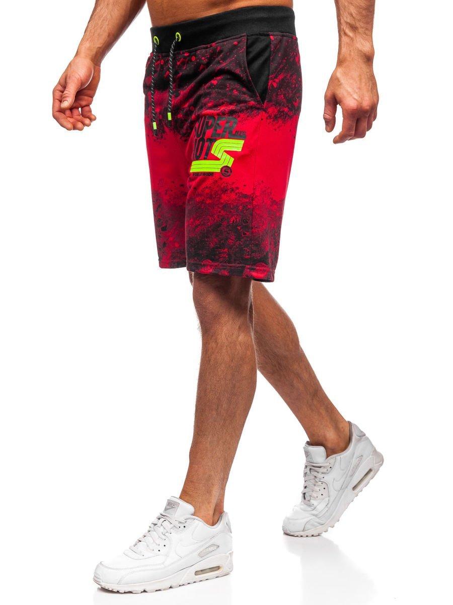 Pantaloni scurți de trening roșii bărbați Bolf KK300163 imagine