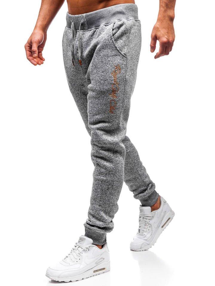 Pantaloni pentru bărbați sportivi jogger gri Bolf Q3507