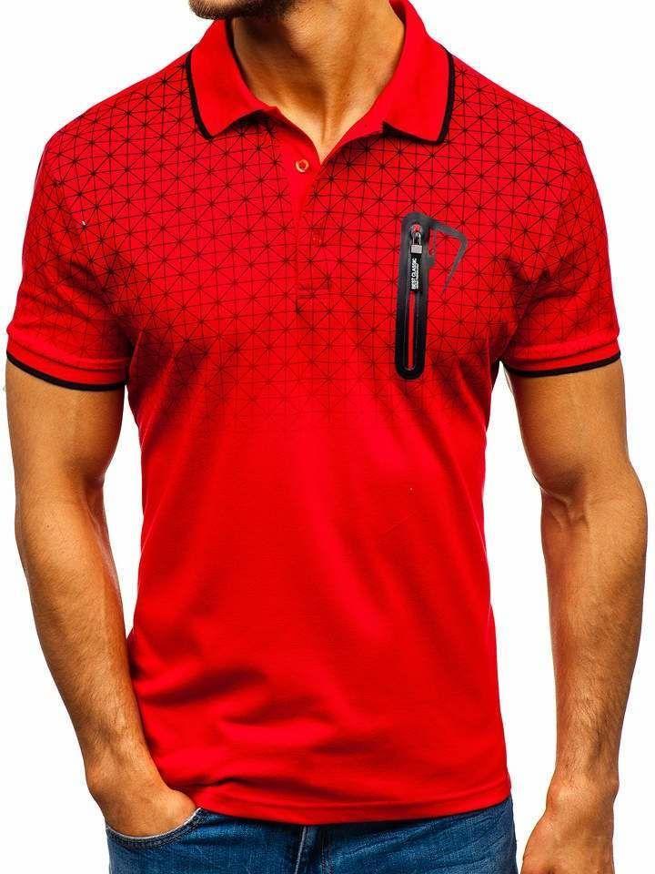 Tricou polo bărbați roșu Bolf 5772 imagine