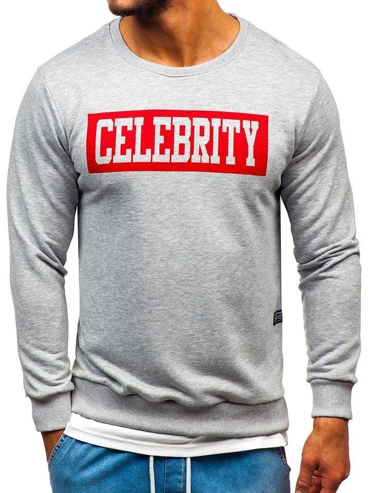 Bluză cu imprimeu bărbați gri Bolf 11115 imagine